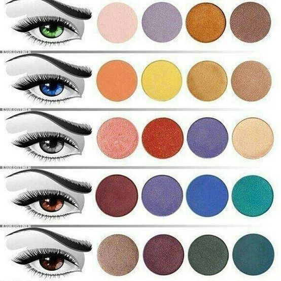 sombras según color de ojos